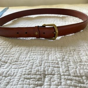 Men's coach leather belt